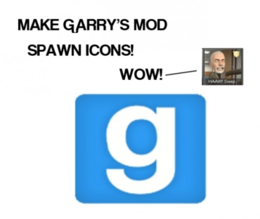 How to make spawn icons for Gmod
