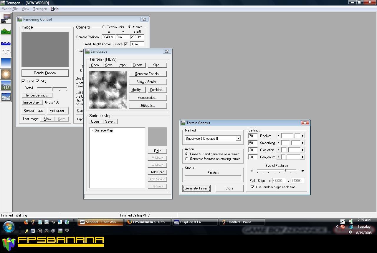 Using Terragen to Generate Displacements Tutorial screenshot #1