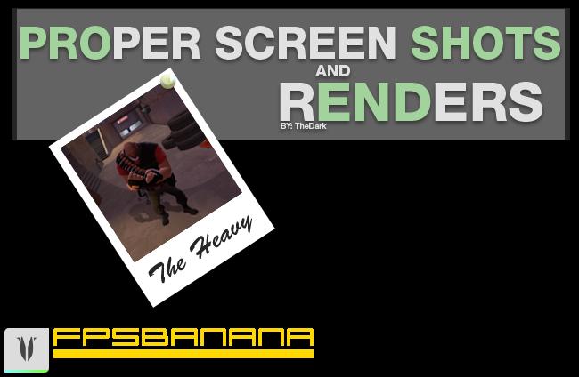 Taking Proper Screenshots and Renders
