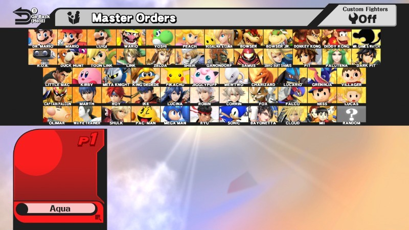 modifying the character select screen css super smash