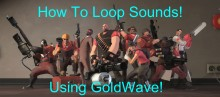 How to add cues/make a sound loop using GoldWave preview