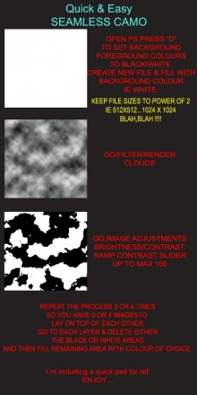 QUICK & EASY SEAMLESS CAMO Tutorial preview