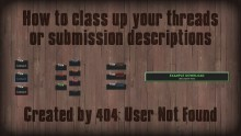 Class up your threads & submission descriptions preview