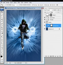 Energy ball effect in Photoshop Tutorial preview