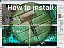 How to install: materials, models and prefabs. Tutorial preview