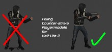 Fixing CStrike Playermodels for HL2 Tutorial preview