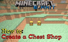 How to make a shop [Bukkit plugin: Chest Shop] preview