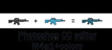 Easy editor M4a1 Blue (photoshop+paint) Tutorial preview
