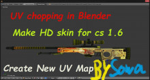 Creating models of skins from cs go in quality HD Tutorial preview