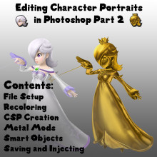 Editing Character Portraits in Photoshop Part II Tutorial preview
