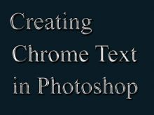 Creating Chrome Text Tutorial preview
