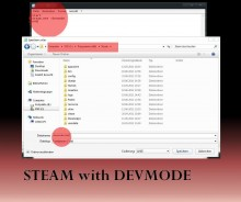 Run Steam.exe in developer-mode. Tutorial preview