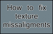 How to fix texture missaligments Tutorial preview