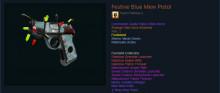 Strange Specialized Killstreak Blue Mew Pistol (Well-Worn + Festive