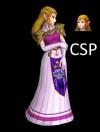 HW OOT Zelda render with melee pose
