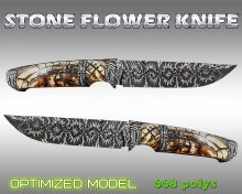 Stone flower knife