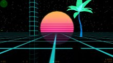 Concept for 80s Neon Retro Map