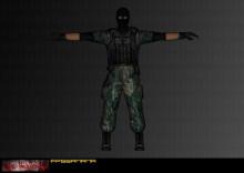 Jungle camo terrorist
