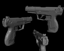 Walther P22 High Poly