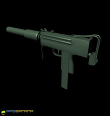 Mac-10 Low Polly