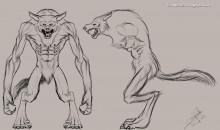 Werewolf character sheet