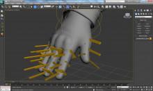 CS:GO bones/biped hand rig
