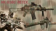 HK G36C in custom paint Retex