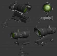 Trijicon Acog High Poly -finished