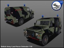 British Army Landrover Defender 110