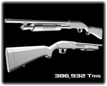 High poly Mossberg 500
