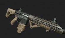 Brokes custom AR15.