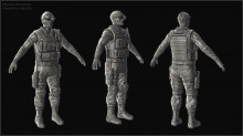 Recon Soldier Highpoly
