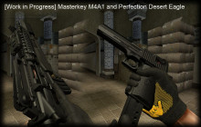 [Work in Progress] Masterkey M4A1 and Desert Egale