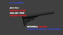 [High poly] M4 Carbine