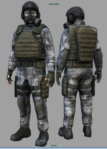 H.E.C.U soldiers for Half Life 2