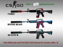 CS:GO M4A1-S HD skins for cs 1.6