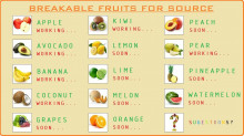 Breakable fruit for Source