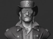 Lemmy Killmister 3D model.