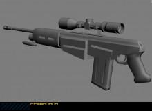 Futuristick Ak47 With Rifle Sc