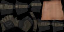 Desert army gloves...wrinkles