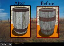 Wood Barrel.