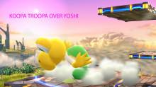 Koopa Troopa over Yoshi