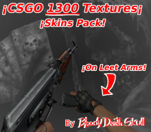 1330 Textures,Skins Pack From CS:GO