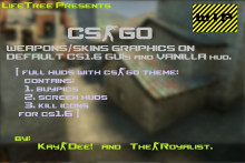 CSGO Weapon/Skin Graphics on default CS1.6 GUI.