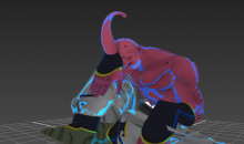 Super Buu over Captain Falcon
