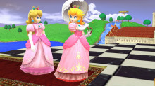 melee remasterd peach dress