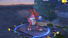 Guilmon over Lucario
