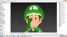 Baby Luigi over Ness