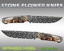 Stone flower knife