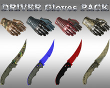 HD DRIVER Gloves pack + HD Flip knife